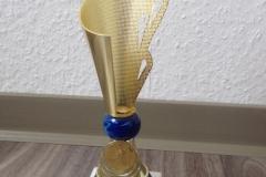 Erster! Der Pokal